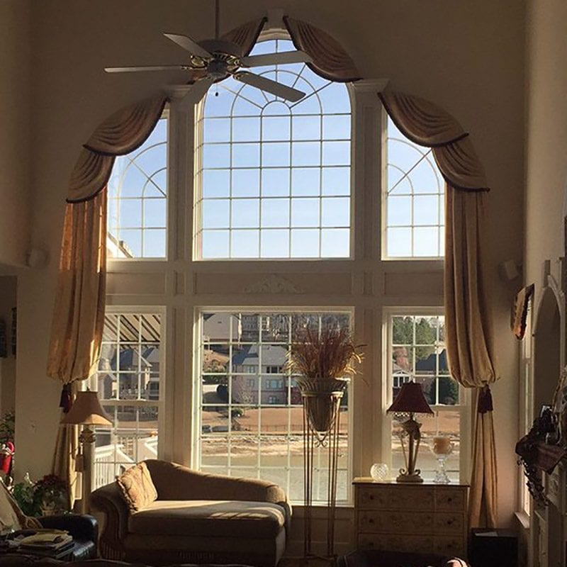 Large picture window with other windows around it