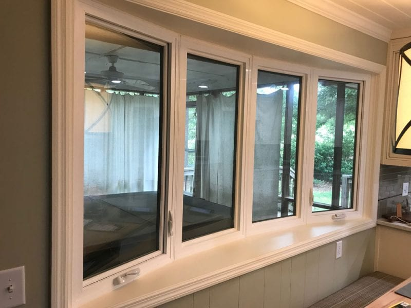 Bow windows with 4 panels