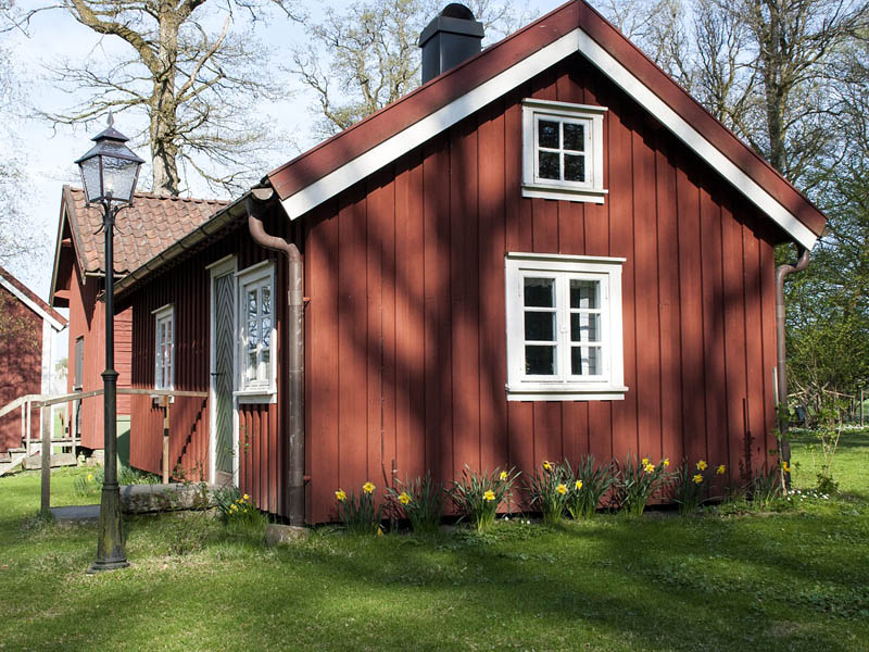 Beautiful red wooden house