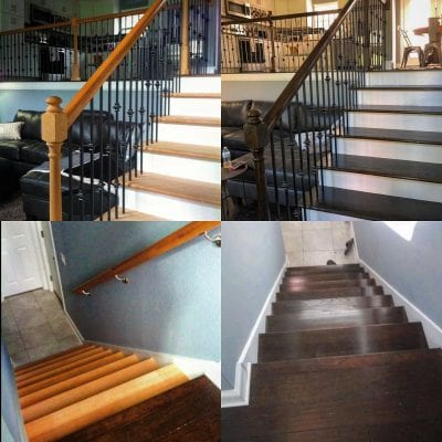 Staining a staircase